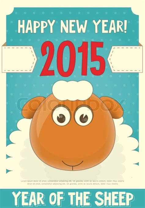 new year sheep facts new year card with sheep symbol of 2015 year