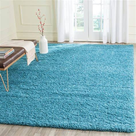 turquoise area rug safavieh laguna shag turquoise 8 ft x 10 ft area rug