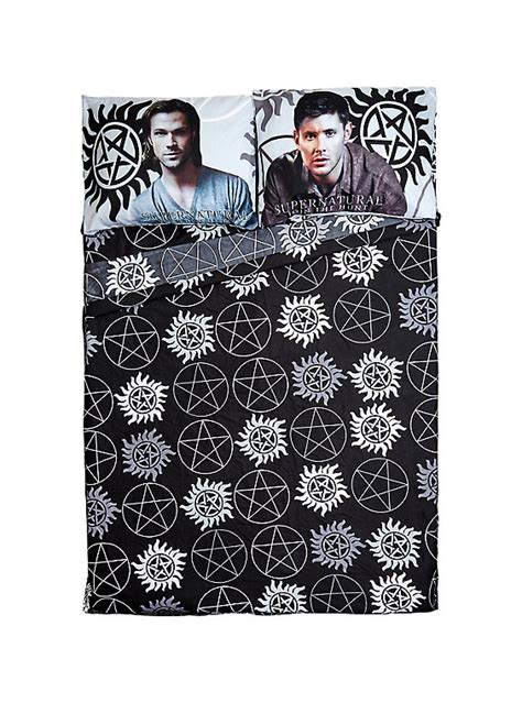 supernatural bed set supernatural icons microfiber full sheet set hot topic