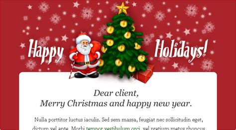 top five email templates for xmas moosend email