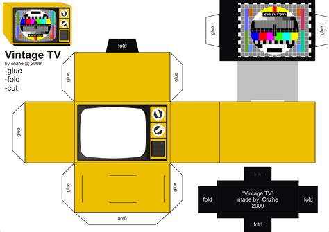 Papercraft Tv - television by crizhe on deviantart