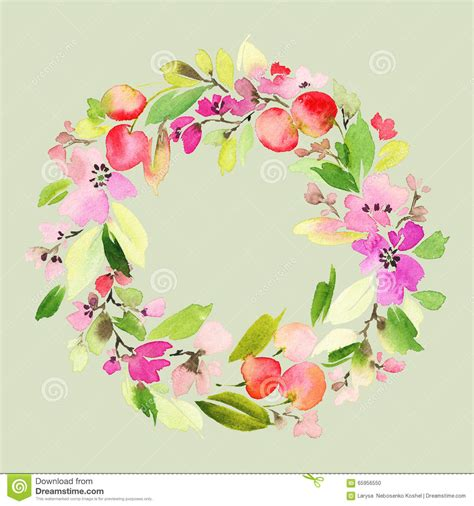 fiori con auguri cartolina d auguri con i fiori illustrazione di stock