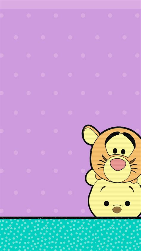 wallpaper tiger disney pooh and tigger tsum tsum iphone backgrounds pinterest