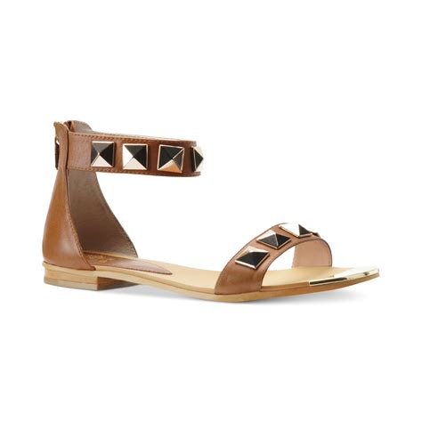 ankle sandals isola adette flat ankle sandals in brown lyst