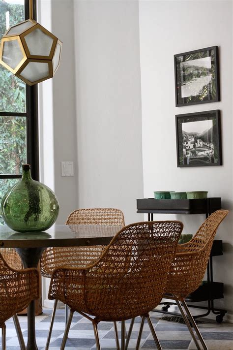 Dining Room Wicker Chairs 10 Outstanding Dining Room Interiors By Nate Berkus