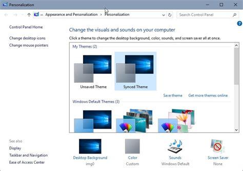 microsoft appearance themes microsoft restores personalization menu in windows 10 s