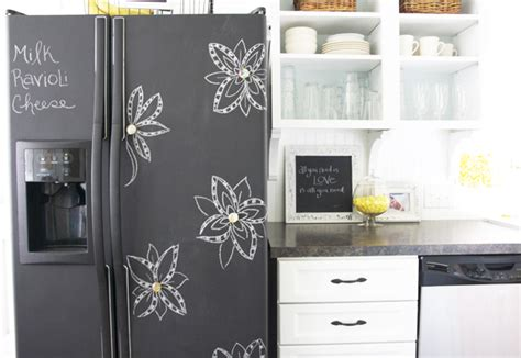 chalkboard paint on fridge how to make a chalkboard fridge tips tricks ideas