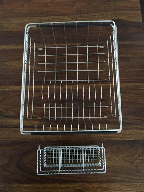 stainless steel drying rack and plastic bag holder
