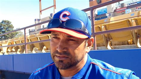 cubs bench cubs bench coach dave martinez on kris bryant s progress