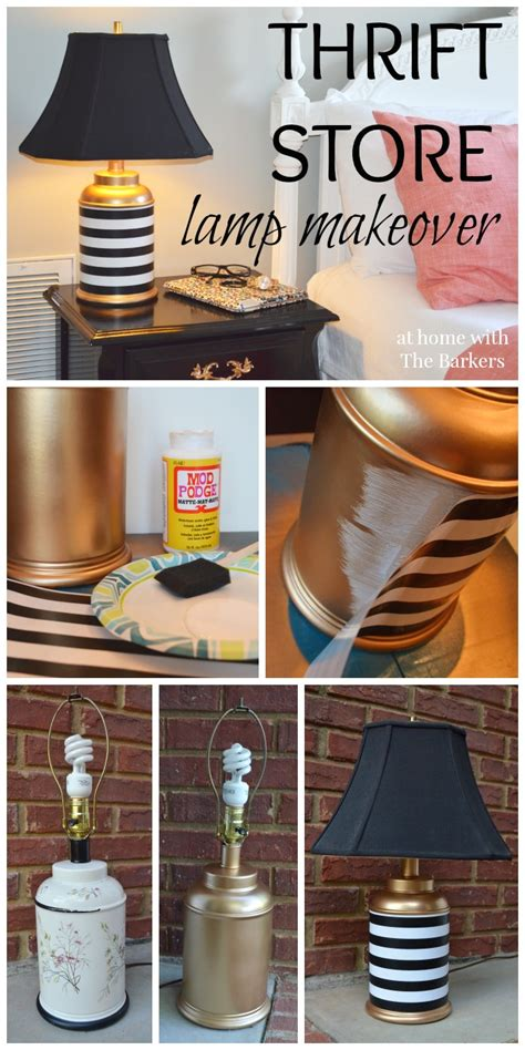 thrift store home design thrift store l makeover gold spray paint mod podge