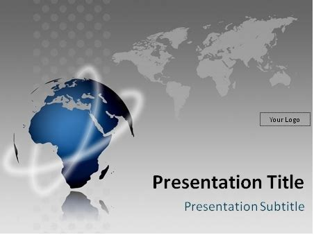 Download Free Globe Model And World Map Powerpoint Template World Template Powerpoint