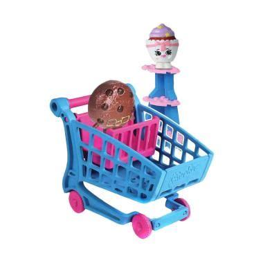 Mainan Jualan Supermarket Shopping jual shopkins kinstructions shopping cart brick mainan