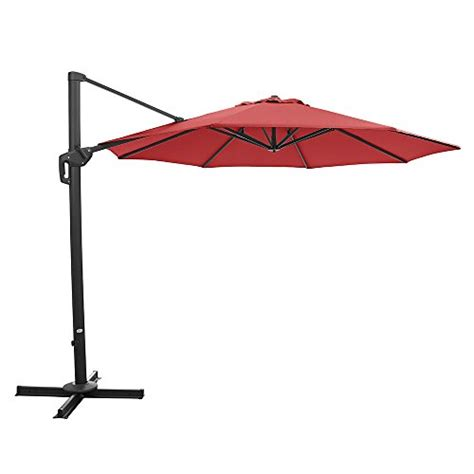 11 Cantilever Patio Umbrella With Base by Ulax Furniture 360 176 Rotation 11 Ft Deluxe Outdoor Offset