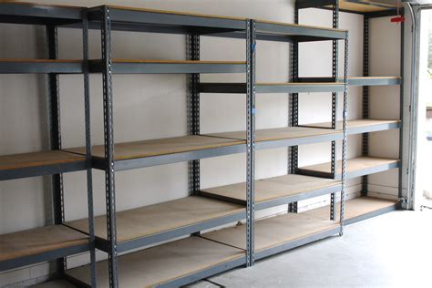 Shelf Racks Garage by Simply Done Custom Wall Of Garage Shelving Simply Organized