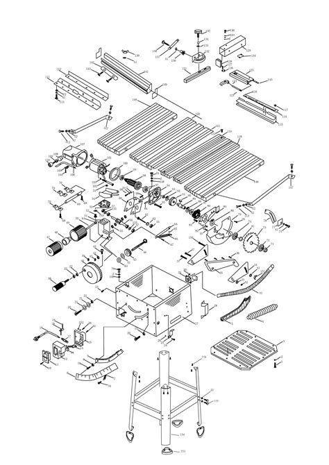 sip bench saw sip 01930 10 quot table saw diagram