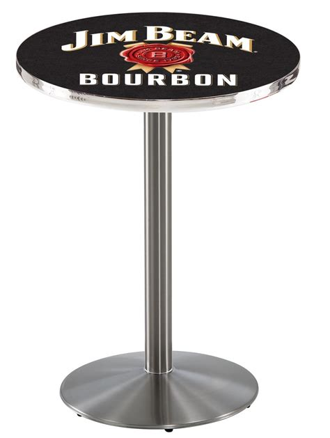 jim beam bar stools jim beam pub table 42 quot stainless