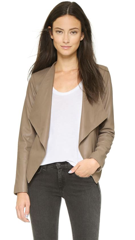 Bb Leather Jacket Soft Brown Bb Dakota Leather Jacket In Brown Lyst