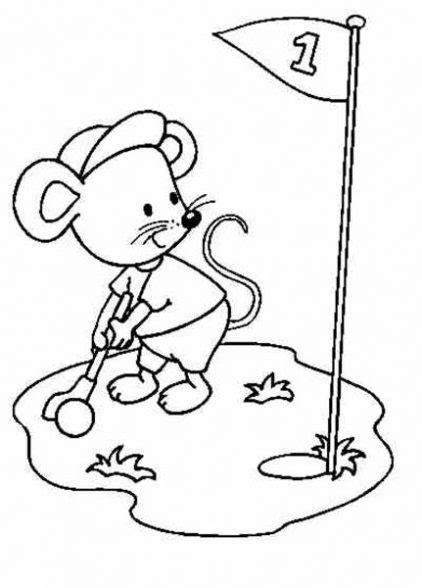 dibujos de niños jugando golf dibujo de golf para ni 241 os para colorear dibujos