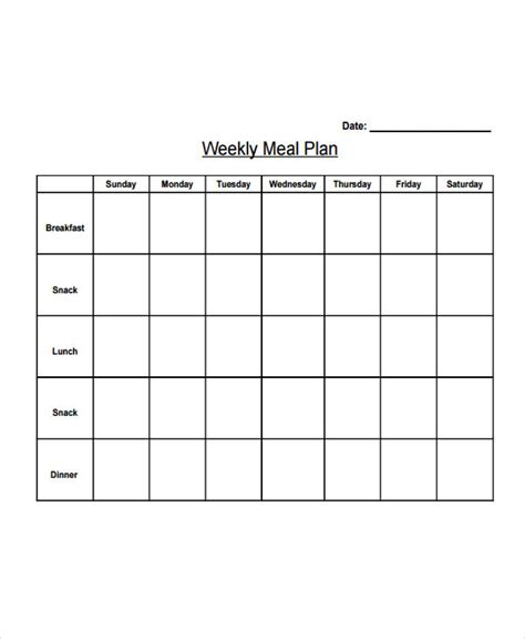 meal planner for weight loss template 10 diet plan templates free sle exle format