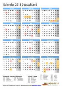 Kalendar 2018 Pdf Kalender 2018 Zum Ausdrucken Pdf Vorlagen
