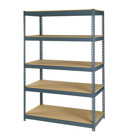 Garage Organization Unit Edsal Edsal 5 Shelf Heavy Duty Steel Shelving Tools Garage