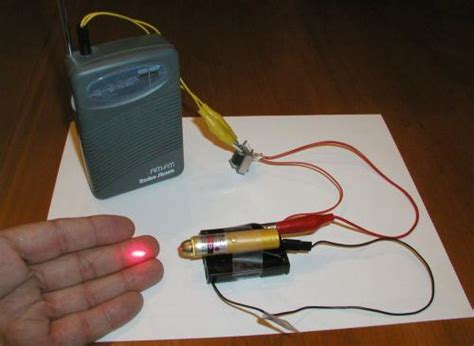 fabricate un transmisor de audio laser barato y simple