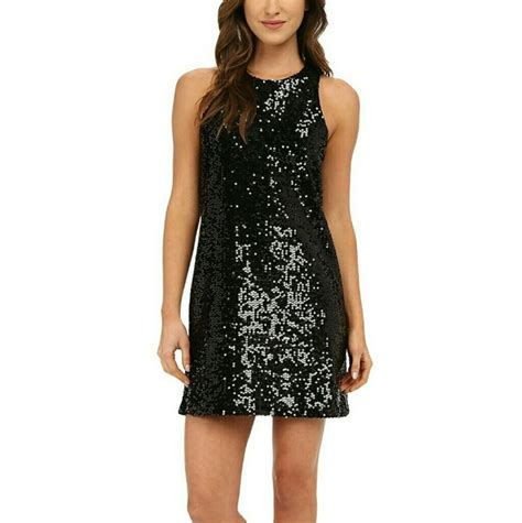 h m h m black sequin shift cocktail dress size l from