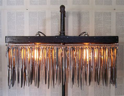 floor standing lava l up cycled butter knife standing chandelier traditional