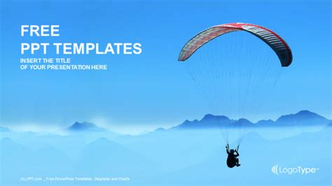 sports powerpoint templates paraglider sports ppt templates