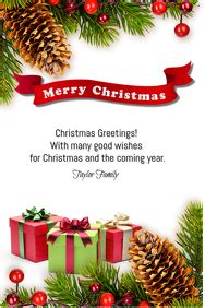 customizable design templates  merry christmas postermywall