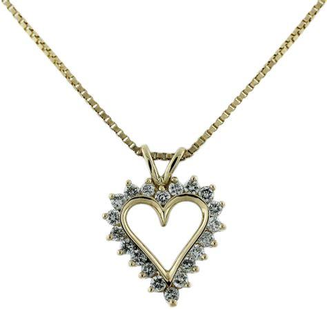 Pendant Necklace 14k yellow gold pendant chain necklace boca