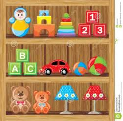 Wood Plans Toy Storage by Shelfs With Toys Stock Photography Image 34561842