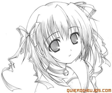 imagenes para pintar anime chica anime para colorear
