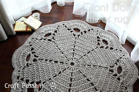 Giant Doily Rug Giant Doily Rug Free Crochet Pattern Craft Passion