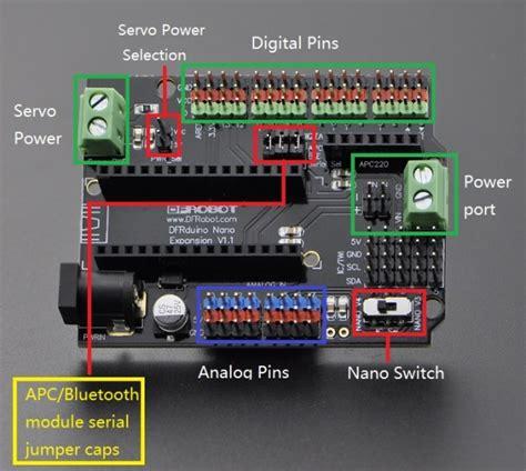 Arduino Nano Io Expansion Shield Board arduino nano io shield sku dfr0012 dfrobot electronic