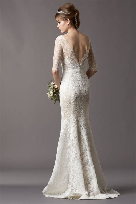 wedding dress lace 2014 2015 wedding dress trends lace sleeves dipped
