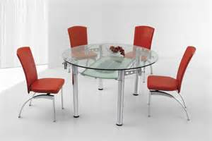 Round glass dining table at london extendable round glass dining table