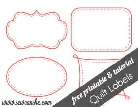 free printable patterns for quilt labels