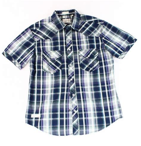 M Plaid Shirt 7 diamonds mens size medium m plaid button shirt