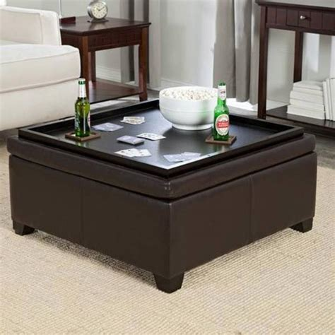 tray table ottoman coffee table best ottoman coffee table tray leather