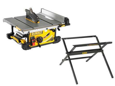 dewalt table saw legs dewalt dwe7491l 110v 250mm table saw and scissor leg stand