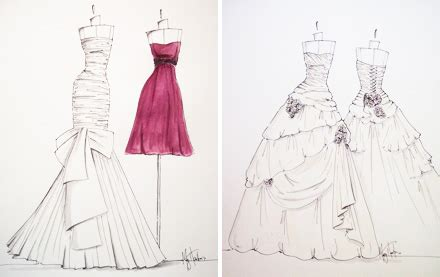 how to design a dress es custom wedding gown sketches
