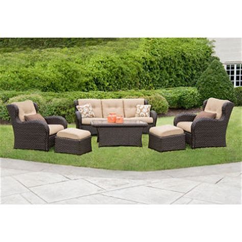 sams outdoor furniture member s 174 heritage seating set with premium sunbrella 174 fabric 6 pcs sam s club