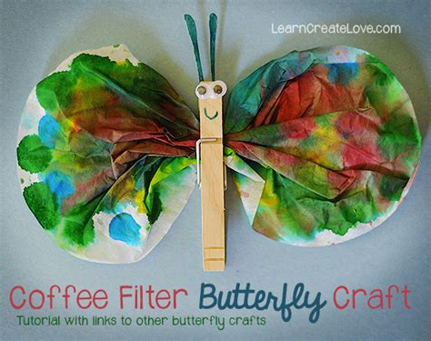butterfly craft for coffee filter butterfly craft