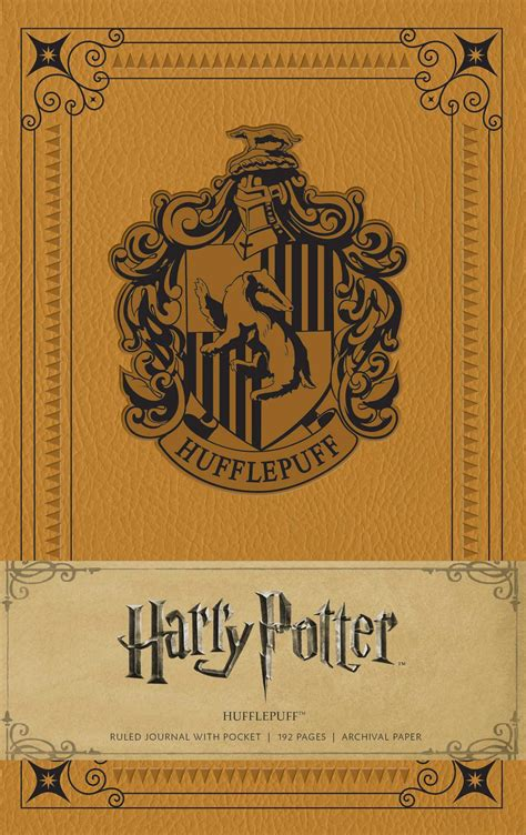 harry potter hogwarts ruled notebook books harry potter hufflepuff hardcover ruled journal book by