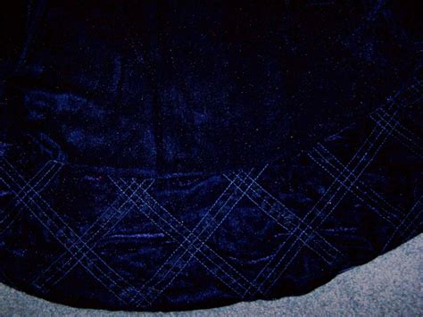 personalized solid blue velvet christmas tree skirt ebay