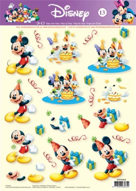 Disney Decoupage - 3d disney knipvellen disney 3d decoupage
