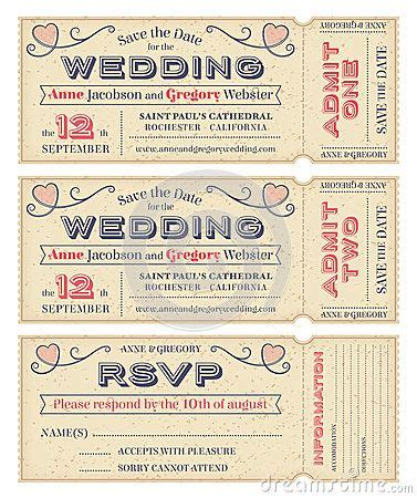 Ticket Wedding Invitation Templates And Templates Free On Pinterest Wedding Ticket Template Free