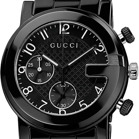 Guc Ci Ceramic Black gucci g chrono black ceramic mens ya101352