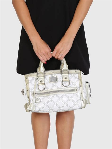 Name Madonnas Bag by Versace Madonna Boston White Patent Leather Luxury Bags